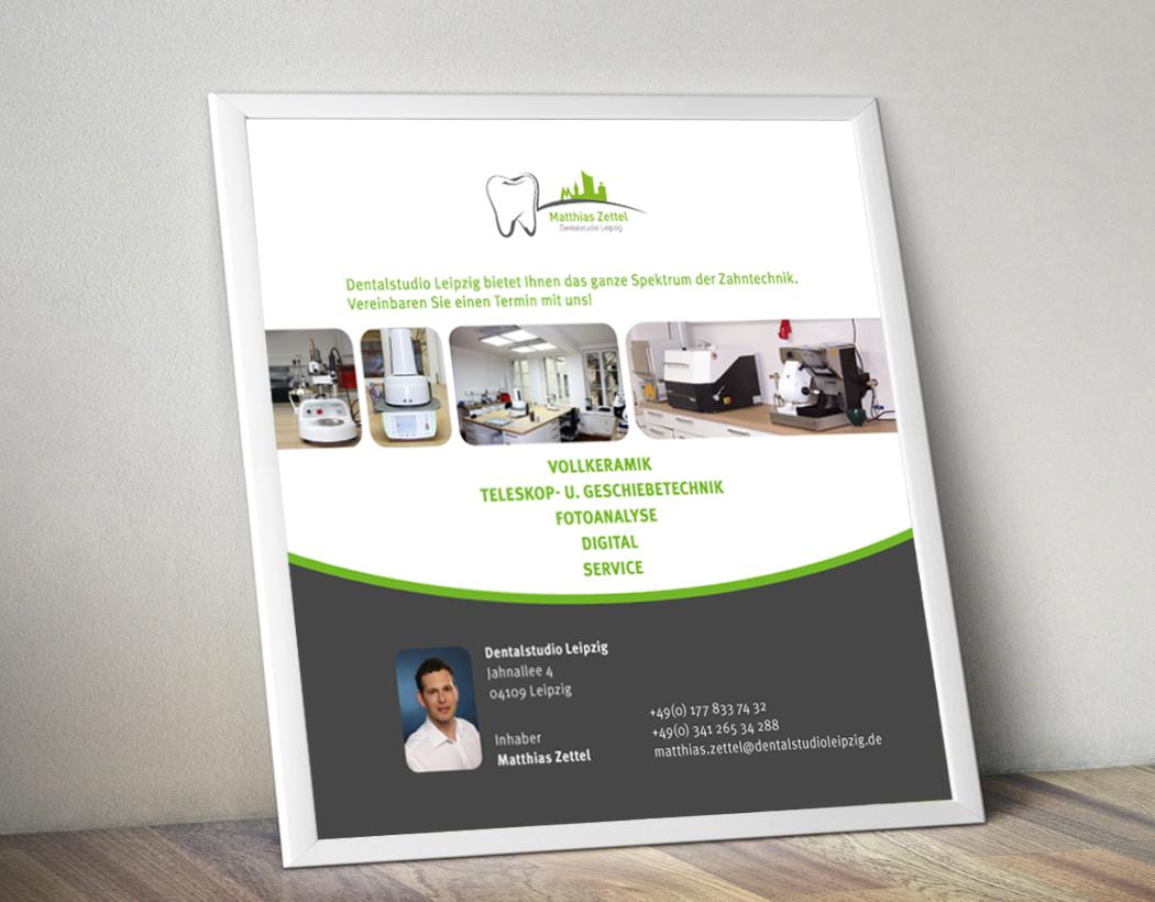 Flyer für Dentalstudio Leipzig