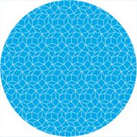 Grundig Aka Muster blau und weiß