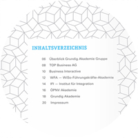 Grundig Akademie Gruppe Inhaltsverzeichnis