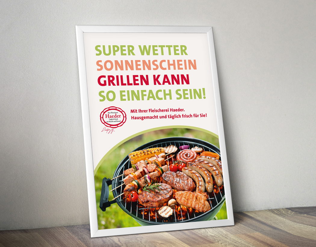 Flyer für Fleischerei Haeder in Leipzig