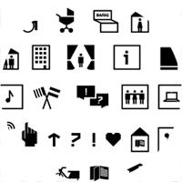 Studentenwerk Piktogramme und Wegweiser