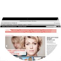 Webseite für Studentenwerk Nürnberg auf Laptop