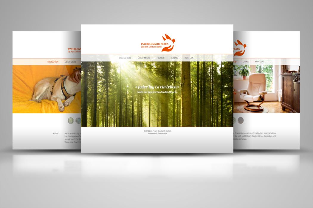 Webdesign für eine psychotherapeutische Praxis