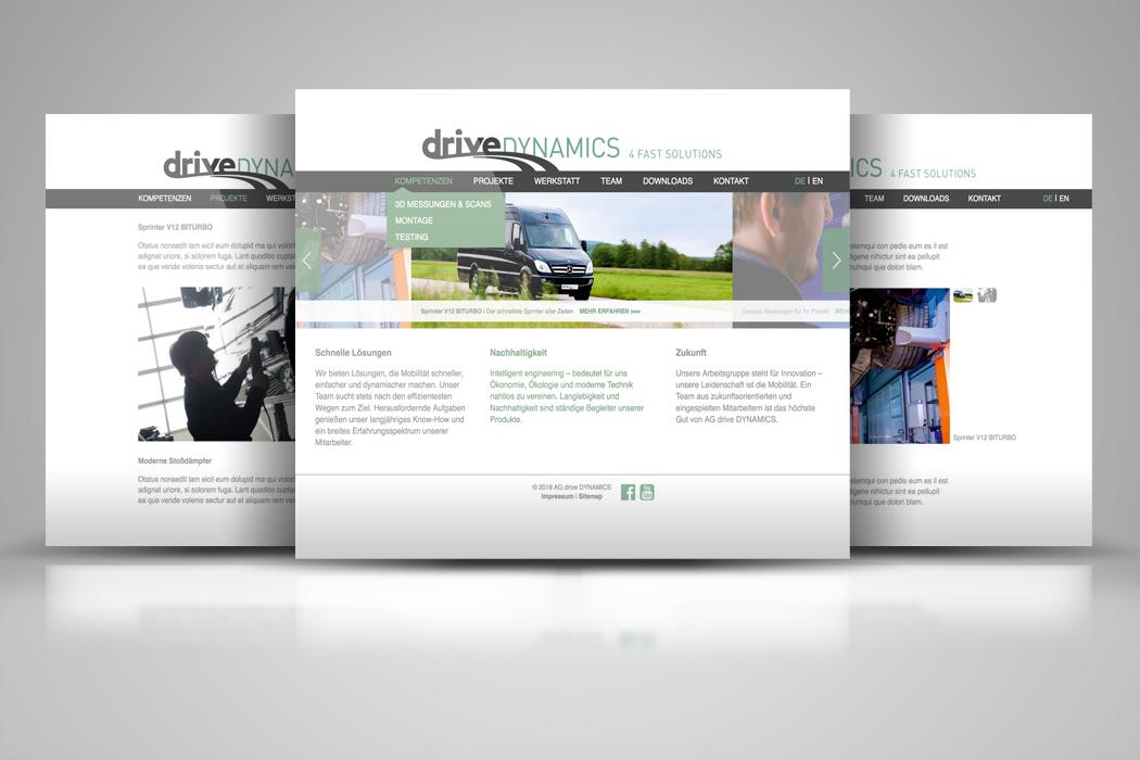 Webseite für einen Fahrzeugentwickler